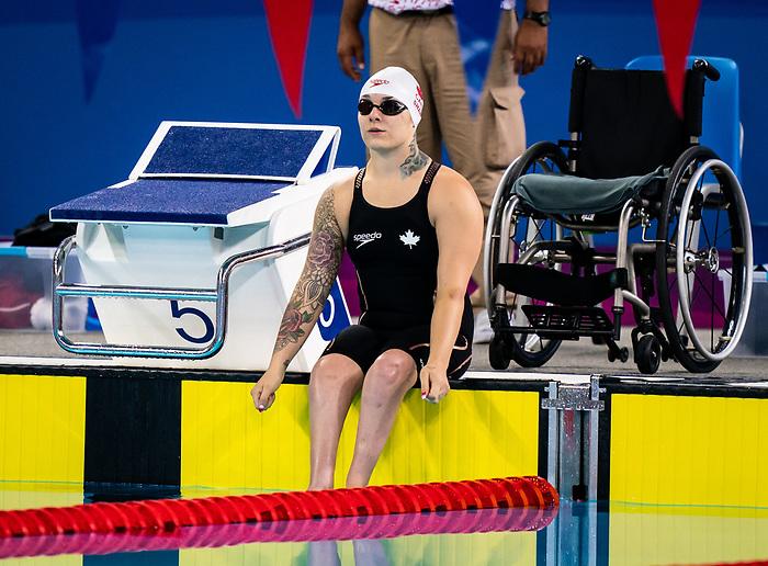 Kristal Shaw, Lima 2019 - Para Swimming // Paranatation.<br /> Kristal Shaw competes in the women's 50m freestyle S7 // Kristal Shaw participe en 50 m libre féminin S7. 28/08/19.