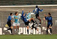 Roma 12/2/2005 Campionato Italiano Serie A <br /> Lazio Atalanta 2-1 <br /> Ayodele Stephen Makinwa Atalanta (R2) scores goal of 0-1 for Atalanta <br /> Ayodele Stephen Makinwa Atalanta segna il gol del vantaggio<br /> Photo Fabrizio Corradetti Insidefoto