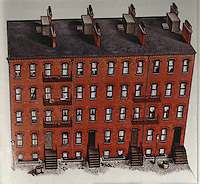 Boston:  Tenements--North  Bennet Court, North End, 1870's.  Dimly lit & poorly ventilated...Irish and Italian immigrants.  Ref. only.