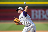 Winston-Salem Dash relief pitcher Ryan Riga (30) delivers a pitch to the plate against the Buies Creek Astros at BB&T Ballpark on April 16, 2017 in Winston-Salem, North Carolina.  The Dash defeated the Astros 6-2.  (Brian Westerholt/Four Seam Images)