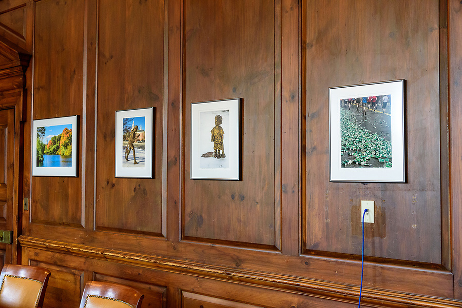 These four prints are now hanging on the wall of Mayor Ruthanne Fuller's office behind the conference table.