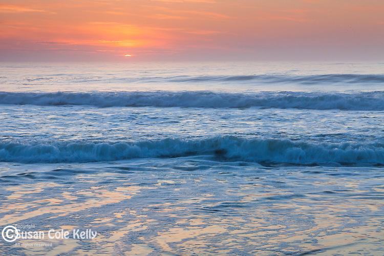 Sunrise at Nauset Light Beach, Cape Cod National Seashore, Eastham, Massachusetts, USA
