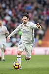 Isco of Real Madrid in action during their La Liga 2016-17 match between Real Madrid and Malaga CF at the Estadio Santiago Bernabéu on 21 January 2017 in Madrid, Spain. Photo by Diego Gonzalez Souto / Power Sport Images