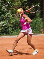 05-08-13, Netherlands, Dordrecht,  TV Desh, Tennis, NJK, National Junior Tennis Championships, Lian Tran<br /> <br /> <br /> Photo: Henk Koster