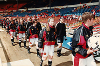 The teams take to the field ahead of Manchester United Ladies vs Newcastle United Ladies, Charity Match Football at Wembley Stadium on 11th August 1996