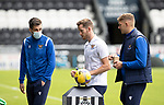 St Mirren v St Johnstone…29.08.21  SMiSA Stadium    SPFL<br />Callum Booth, Jamie McCart and Liam Gordon on the pitch shortly after arriving<br />Picture by Graeme Hart.<br />Copyright Perthshire Picture Agency<br />Tel: 01738 623350  Mobile: 07990 594431