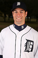 February 27, 2010:  Infielder Scott Sizemore (20) of the Detroit Tigers poses for a photo during media day at Joker Marchant Stadium in Lakeland, FL.  Photo By Mike Janes/Four Seam Images