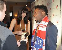 Philadelphia, PA - Thursday January 19, 2018: Ema Twumasi during the 2018 MLS SuperDraft at the Pennsylvania Convention Center.
