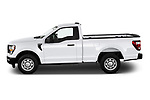 Car Driver side profile view of a 2021 Ford F-150 XL 4 Door Pick-up Side View