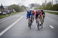 Mathieu Van Der Poel (NED/Correndon-Circus) leading the way towards Waregem.<br /> <br /> 74th Dwars door Vlaanderen 2019 (1.UWT)<br /> One day race from Roeselare to Waregem (BEL/183km)<br /> <br /> ©kramon