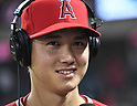 MLB: Shohei Ohtani of Los Angeles Angels hits a home run against the Detroit Tigers