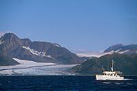 Tour boat, Resurrection Bay, Bear glacier, Kenai Fjords National Park, Alaska