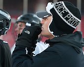 David Berard (PC - Coord-HockeyOps) -  - The participating teams in Hockey East's first doubleheader during Frozen Fenway practiced on January 3, 2014 at Fenway Park in Boston, Massachusetts.