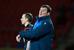 St Johnstone v Partick Thistle…02.03.16  SPFL McDiarmid Park, Perth<br />Tommy Wright complains about time wasting<br />Picture by Graeme Hart.<br />Copyright Perthshire Picture Agency<br />Tel: 01738 623350  Mobile: 07990 594431