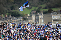 Bath Rugby fans enjoying the Aviva Premiership match between Bath Rugby and Leicester Tigers at The Recreation Ground on Saturday 20th April 2013 (Photo by Rob Munro)