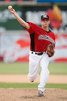 Neil Ramirez #28 of the Hickory Crawdads in action versus the West Virginia Power at L.P. Frans Stadium June 21, 2009 in Hickory, North Carolina. (Photo by Brian Westerholt / Four Seam Images)
