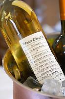 Bottles in ice bucket. Wine Art Estate Winery, Microchori, Drama, Macedonia, Greece