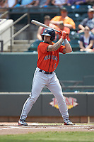 J.J. Matijevic (1) of the Buies Creek Astros at bat against the Winston-Salem Dash at BB&T Ballpark on July 15, 2018 in Winston-Salem, North Carolina. The Dash defeated the Astros 6-4. (Brian Westerholt/Four Seam Images)