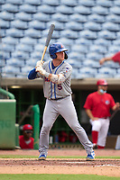 St. Lucie Mets Matt O'Neill (5) bats during a game against the Clearwater Threshers on July 1, 2021 at BayCare Ballpark in Clearwater, Florida.  (Mike Janes/Four Seam Images)
