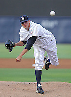 May 21, 2010: Pitcher Trenton Lare of the Tampa Yankees delivers a pitch during a game at George M Steinbrenner Field in Tampa, FL. Tampa is the Florida State League High Class-A affiliate of the New York Yankees. Photo By Mark LoMoglio/Four Seam Images