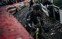 Lars van der Haar (NED/Telenet Fidea Lions)<br /> <br /> Elite Men's race<br /> Superprestige Gavere / Belgium 2017