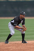 Chicago White Sox shortstop Camilo Quintero (96) during a Minor League Spring Training game against the Chicago White Sox at Camelback Ranch on March 16, 2018 in Glendale, Arizona. (Zachary Lucy/Four Seam Images)