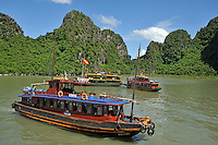 Junk boats, Halong Bay, Vietnam