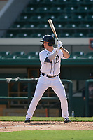 Detroit Tigers Daniel Cabrera (17) bats during a Florida Instructional League intrasquad game on October 24, 2020 at Joker Marchant Stadium in Lakeland, Florida.  (Mike Janes/Four Seam Images)