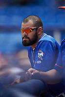St. Lucie Mets Luis Guillorme (9) during a game against the Brevard County Manatees on April 17, 2016 at Tradition Field in Port St. Lucie, Florida.  Brevard County defeated St. Lucie 13-0.  (Mike Janes/Four Seam Images)