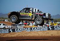 Apr 15, 2011; Surprise, AZ USA; LOORRS driver Rob MacCachren (1) during round 3 and 4 at Speedworld Off Road Park. Mandatory Credit: Mark J. Rebilas-.