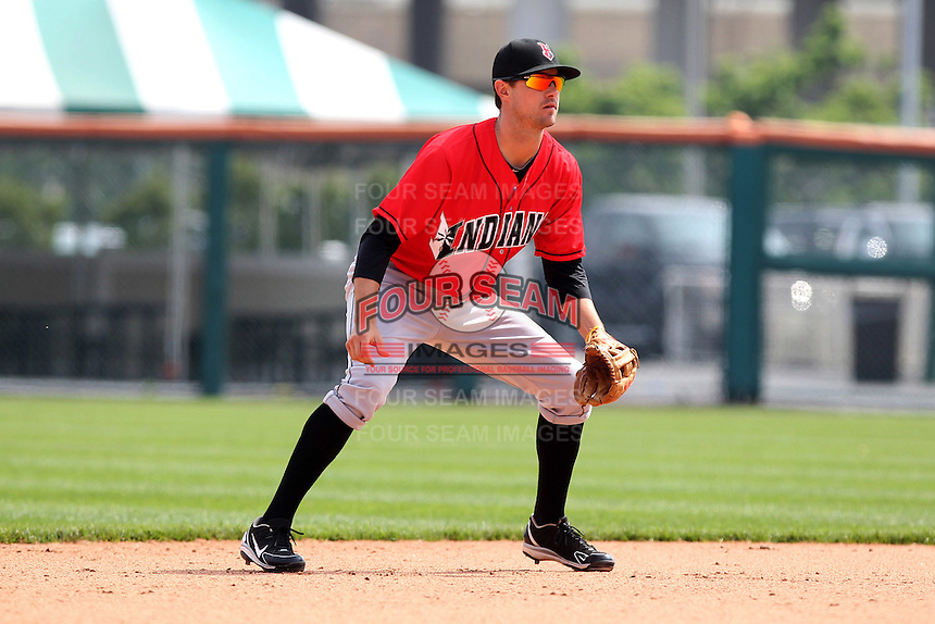 Indianapolis Indians shortstop Jordy Mercer #5 during a game against the Buffalo Bisons at Coca-Cola Field on May 22, 2012 in Buffalo, New York.  Indianapolis defeated Buffalo 6-3.  (Mike Janes/Four Seam Images)