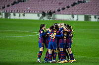 6th January 2021; Camp Nou, Barcelona, Spain. La Liga Womens league football FC Barcelona versus Rcd Espanyol;  Alexia Putellas celebrates the Baraceona goal during the Liga Iberdrola match