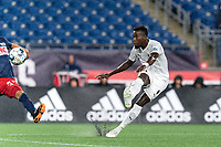 FOXBOROUGH, MA - SEPTEMBER 1: Mohamed Kone #88 of FC Tucson passes the ball during a game between FC Tucson and New England Revolution II at Gillette Stadium on September 1, 2021 in Foxborough, Massachusetts.