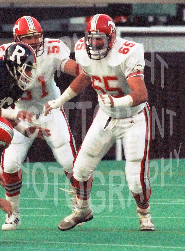 Sean McKeown Calgary Stampeders 1986. Photo F. Scott Grant