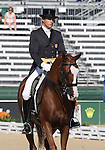 Boyd Martin & Neville Bardos competing for USA in the Dressage phase of the FEI World Eventing Championship at the World Equestrian Games in Lexington, KY.
