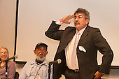 Washington DC, USA. Chico Vive conference, 5th April 2014. Conference speakers Raimundo Mendes and Gomercindo Rodrigues.