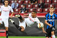 21st August 2020, Rheinenergiestadion, Cologne, Germany; Europa League Cup final Sevilla versus Inter Milan;  Sevillas Fernando plays the high ball.