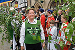 Lichfield Greenhill Bower. The Guildhall. Lichfield Staffordshire. England. Green Mans Morris and Sword Club.