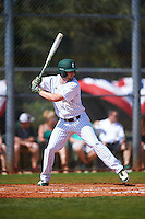 Eastern Michigan Eagles center fielder Jordan Peterson (8) at bat during a game against the Dartmouth Big Green on February 25, 2017 at North Charlotte Regional Park in Port Charlotte, Florida.  Dartmouth defeated Eastern Michigan 8-4.  (Mike Janes/Four Seam Images)