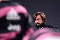 Andrea Pirlo coach of Juventus FC looks on during the Serie A football match between Juventus FC and FC Crotone at Allianz stadium in Torino (Italy), February 22th, 2021. Photo Federico Tardito / Insidefoto