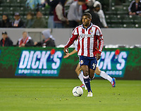 CARSON, CA - March 17, 2012: Chivas USA defender Rauwshan McKenzie (4) during the Chivas USA vs Vancouver Whitecaps FC match at the Home Depot Center in Carson, California. Final score Vancouver Whitecaps 1, Chivas USA 0.
