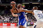 Real Madrid's Trey Thompkins and Anadolu Efes's Jayson Granger during Turkish Airlines Euroleague match between Real Madrid and Anadolu Efes at Wizink Center in Madrid, April 07, 2017. Spain.<br /> (ALTERPHOTOS/BorjaB.Hojas)