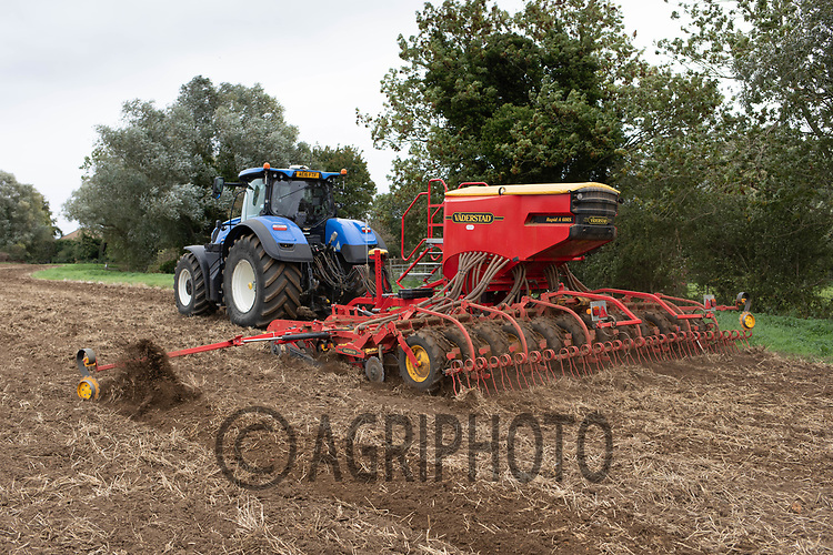 28.9.2020 Drilling Winter Barley in Cambridgeshire<br /> ©Tim Scrivener Photographer 07850 303986<br />      ....Covering Agriculture In The