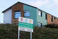 Pictured: The entrance to Ysgol Y Deri and St Cyres Schools in Penarth, Wales, UK. Friday 02 February 2018<br /> Re: 12 year old Alex Jones, who has Down's Syndrome, was not dropped off home by bus company CJ Contract Travel Services but instead was discovered at the company's depot in Barry, south Wales, on his way back from Ysgol Y Deri School in nearby Penarth.