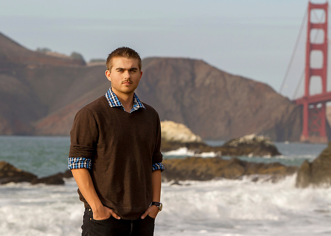 Daniel Pefley Senior Portrait Session on Baker Beach in San Francisco, November 15, 2014