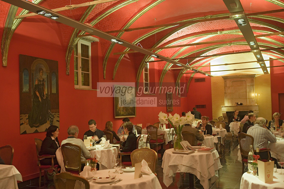Europe/France/Nord-Pas-de-Calais/59/Nord/Lille: L 'Hermitage Gantois 224 rue de Paris hotel situé dans un ancien Hospice construit en 1460 par Jean de le Cambe dit Le Gantois- le restaurant