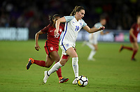 Orlando City, FL - Wednesday March 07, 2018: Mel Lawley during a 2018 SheBelieves Cup match between the women's national teams of the United States (USA) and England (ENG) at Orlando City Stadium.