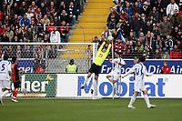 Torwart Jan Lastuvka (Bochum) haelt<br /> Eintracht Frankfurt vs. VfL Bochum, Commerzbank Arena<br /> *** Local Caption *** Foto ist honorarpflichtig! zzgl. gesetzl. MwSt. Auf Anfrage in hoeherer Qualitaet/Aufloesung. Belegexemplar an: Marc Schueler, Am Ziegelfalltor 4, 64625 Bensheim, Tel. +49 (0) 6251 86 96 134, www.gameday-mediaservices.de. Email: marc.schueler@gameday-mediaservices.de, Bankverbindung: Volksbank Bergstrasse, Kto.: 151297, BLZ: 50960101