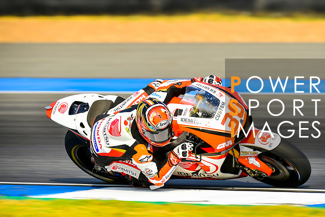 LCR Honda IDEMITSU's rider Takaaki Nakagami of Japan rides during the MotoGP Official Test at Chang International Circuit on 16 February 2018, in Buriram, Thailand. Photo by Kaikungwon Duanjumroon / Power Sport Images