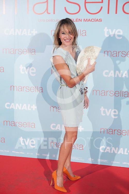 Marta Larralde poses at `Marsella´ film premiere photocall at Capital cinema in Madrid, Spain. July 17, 2014. (ALTERPHOTOS/Victor Blanco)
